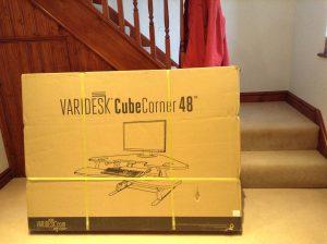 VariDesk as delivered